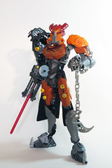 Murae, the Wanderer (Johann Dakitsch) Tags: bionicle lego moc creation custom figure toy postapoc cursed wasteland warrior toa glatorian
