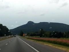 Approaching Pilot Mountain.