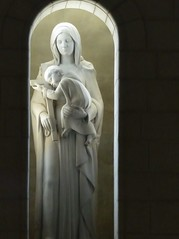 The Light of  Calmness (St./L) Tags: nikon nature white portrait statue child lady religion art artistic calmness meditation aura spiritual light sculpture