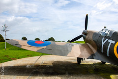 Battle of Britain, Memorial Replica Spitfire. (philbarnes4) Tags: battleofbritainmemorial capelleferne kent folkestone england dslr philbarnes aircraft fighter fighters combat memory remember spitfire nikond80 replica wing propeller