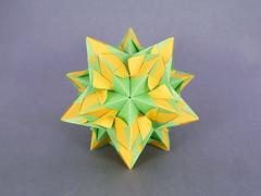 Innocence (masha_losk) Tags: kusudama кусудама origamiwork origamiart foliage origami paper paperfolding modularorigami unitorigami модульноеоригами оригами бумага folded symmetry design handmade art