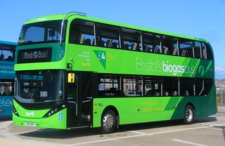 First West of England Biogas Bus 39401 YN17OHP in Bristol.