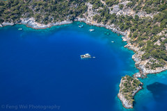 Cruise Ship On Mediterranean Coast, Ölüdeniz, Fethiye, Muğla, Turkey (Feng Wei Photography) Tags: midair traveldestinations fethyie babadag leisureactivity paragliding euroasia turkeymiddleeast mediterraneanturkey coastline oludeniz travel forest outdoorpursuit outdoors cruiseship horizontal lycia muglaprovince cruise scenicsnature highangleview colorimage coast babadağ eastasia gettingawayfromitall tourist ölüdeniz adventure explore beautyinnature fun exhilaration parachuting aerialview turquoisecoast boat turkishculture tourism excitement turkish