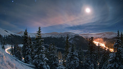 Overnight Bouquet (ky0ncheng) Tags: allrightsreserved alpine canismajor cold colorado coloradocaptures copyright2011bymikeberenson lovelandpass mikeberenson moon mountains nature night orion rigel rockymountains sirius sky snow stars water weather winter spotlight
