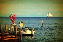 Ostsee (ingrid eulenfan) Tags: ostsee rügen meer boot segelboot fischerboot vitt