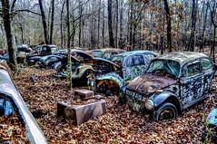 Paradise Rust II.103 (One_Track) Tags: car abandoned volkswagen rust junkyard junk leaves trees tree truck hdr