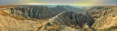 Dinosaur Ridge (Pejasar) Tags: pano panoramic southdakota erosion dinosaurridge iphone 6 badlandsnationalpark sunrise