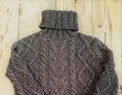 Heavy knitted wool turtleneck (Mytwist) Tags: patecath superdry wool style design aranstyle irish tn turtleneck tneck charcoal chunky chunkysweater