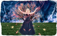Lady of the storm (Swissrock-II) Tags: challenge photoshop photomanipulation photoshopart digitalart ligtroom brushes faestock deviantart fall herbst 2017 september