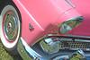 Bubble Gum Pink (Brad Harding Photography) Tags: 1955 55 sunliner ford fairlane olmaraisriverruncarshow ottawa kansas bubblegum pink detail closeup chrome