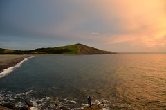 Fisherman and a magical twilight... (karen leah) Tags: sky bay sea sunset twilight fisherman fishing tanybwlch shoreline shore seaside magical ethereal light dusk summer aberystwyth august