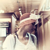 Oh, that vintage look   HSS (Irina1010_out for sometime) Tags: woman vintage hat retro slider oana canon portrait indoors store outstandingromanianphotographers