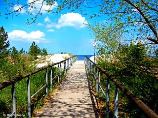Steg zum Strand auf Usedom