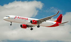 Avianca's First A321 NEO (LeoMuse747) Tags: avianca colombia airbus a321200 253n neo n759av fortaleza pinto martins intl international airport for sbfz leomuse747 tmafortaleza ceará ceara brasil brazil aircraft airplane airliner landing skyshot short finals cfm leap pw engine bogota nikon d5100 nikkor 18105mm vr camera dslr lens sky daylight runway