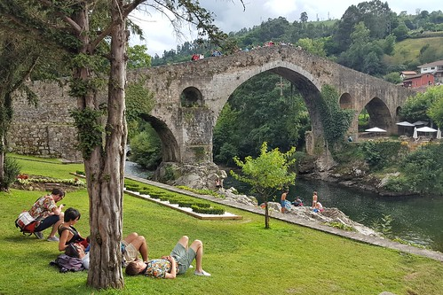 Roman bridge in Cangas de Onis, Spain