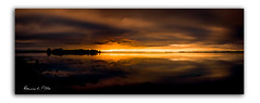 Chasm (RonnieLMills) Tags: sunrise dawn early morning sun chasm light dark fiery colours long exposure rough island islandhill comber newtownards county down northern ireland
