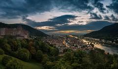 Heidelberg Sunset (Sascha Gebhardt Photography) Tags: nikon nikkor deutschland 2470mm lightroom langzeitbelichtung nacht night heidelberg travel tour photoshop germany d800 roadtrip reise reisen fototour fx cc