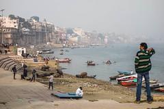 Enjoying the view (Michael Olea) Tags: 2015 travel asia india varanasi ghat