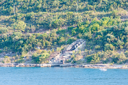 Submarine Pen on Bay of Kotor, Montenegro