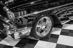 Classy Classic (amarilloladi) Tags: tire chrome chevy transportation chevrolet car classiccars monochrome blackandwhite bw 7dwf