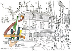 Paris, rue de la Roquette (gerard michel) Tags: france paris architecture rue sketch croquis