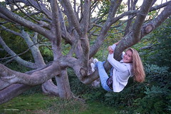Brittany, France (Ineke Klaassen) Tags: brittany bretagne france daughter lizafoppen dochter tree boom trees takken branches climbing playing boomklimmen sony sonyimages sonyilce6000 sonya6000 sonyphotography perrosguirec ploumanach breton coastalpath people woman portret portrait permissiontopost lannion 1000views 20faves travelling traveling holiday young bomen filla fille hija 1025fav outdoor outside