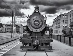 Steam train 410 (Tim Ravenscroft) Tags: train steam engine lowell newhampshire usa hasselblad x1d hasselbladx1d monochrome blackandwhite blackwhite
