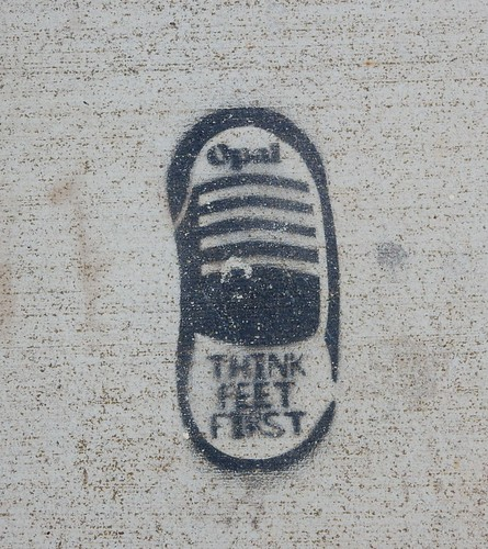 Foot Track Stencil