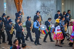 The parades of Huancayo included about 10 saxaphones each.