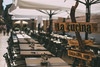 Al fresco (V Photography and Art) Tags: alfresco outdoors outside dining dof depthoffield bokeh street tables mood atmosphere summer travel heat 50mm 50mmf14 lacucina zadar