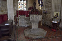 Photo of 576-20170312_Bruton Church-Somerset-Nave (W end, S side)-the Font