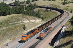 Action on Crawford Hill (Moffat Road) Tags: bnsf coaltrain helper crawfordhill train locomotive meet crawford belmont nebraska bnsfbuttesub ne
