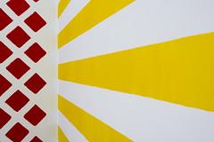 Yellow stripes and red panels (on Explore) (Jan van der Wolf) Tags: map171176v art artwork kunst museum voorlinden museumvoorlinden wall muur stripes panels strepen vlakken red rood yellow redrule geel perspective perspectief lines lijnen lijnenspel abstract kunstwerk corner hoek martincreed geometry pattern patroon
