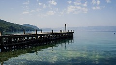 Ohrid Lake (jaspervandevijver) Tags: lake lakeview jetty lakeside docks macedonia fyrom ohrid bay bones museum vista travel holiday nature green waterscape landscape olympus csc omd em10ii 17mm 35mm prime mirrorless