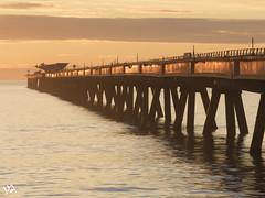 Amanecer en el pantalán de Sagunto. (:) vicky) Tags: pantalón sagunto valencia españa amanecer spain sunrise sol sun playa beach