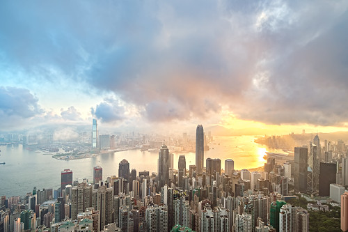 Sunrise at Victoria Harbour, Hong Kong