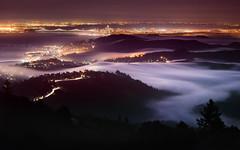 Fog Flow (thefatrobot) Tags: sanfrancisco night evening longexposure nikon fog bayarea baybridge california landscape nightscape city
