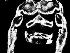 muscle art (flex130) Tags: muscle muscles muscular bicep biceps bizeps huge big jacked ripped delts abs guns workout art muscleart bodybuilding bodybuilder chest pecs blackandwhite flex flexing