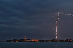 DSC_4012  Lightning (NordVei) Tags: lightning salama lighthouse majakka suomenlinna kirkko church sea helsinki finland electric kiira rain