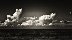 One More Line Crossed (Alfred Grupstra) Tags: sea cloudsky nature cloudscape storm sky dramaticsky weather water scenics wave beach blackandwhite summer horizonoverwater overcast sunset landscape outdoors horizon petrovac montenegro