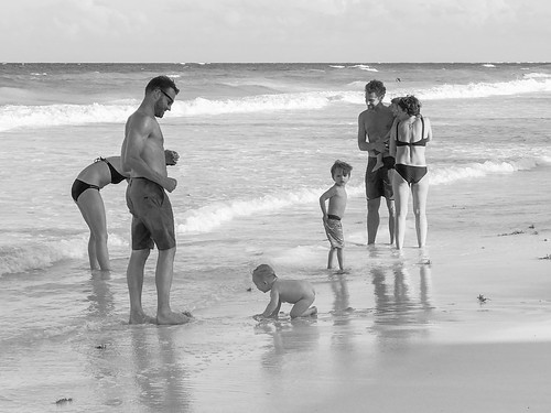 Familes on Tulum Beach