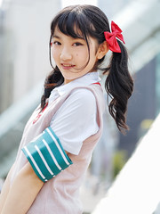 Shy Girl. (Nattawot Juttiwattananon (NJ)) Tags: animerevolution2017 anirevo cosplay schoolgirl portrait vancouverconventioncentre