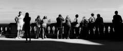 L'esplanade (nathaliedunaigre) Tags: esplanade touristes fourvière lyon france noiretblanc nb blackwhite bw personnes people ombres shadows lumière light contraste contrast