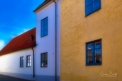 Sketches of Gotland (Elf-8) Tags: sweden gotland visby house colorful architecture wall