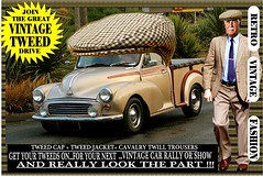 Join The Great Vintage Tweed Drive jpg 2 (The General Was Here !!!) Tags: tweedcap vintage car cars auto autos vehicle tweed coat jacket nz kiwi newzealand club rally drive canon photo text outdoor retro fashion oldschool cavalrytwilltrousers 100 wool gents mens auckland whangarei tauranga rotorua gisborne napier hastings newplymouth hamilton palmerstonnorth wellington nelson christchurch dunedin oamaru invercargill poster sydney melbourne brisbane scottish countrytweed english uk british wales london paris berlin man morrisminor 1950s 1960s 50s 60s ute truck wear wearing run