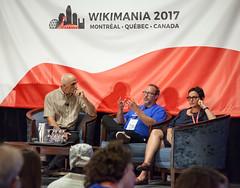 funcrunch-20170811-7517 (funcrunch) Tags: evanprodromou gabriellacoleman jimmywales wikimania wikimedia wikipedia conference montréal québec canada ca