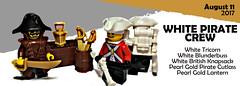 August 2017 - Pirate Crew (BrickWarriors - Ryan) Tags: lego brickwarriors pirate pirates accessories lantern blunderbuss knapsack sword cutlass