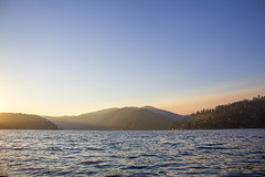 Daybreak (JaelMClay) Tags: sunrise daybreak morning mountains lake dawn landscape water idaho