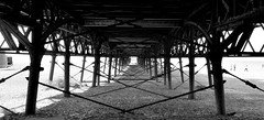 St. Anne's Pier. (Maria .... on here to learn and be inspired.) Tags: pier stannespier northpier stannes beach holiday lines blackandwhite mono iron rust outside outdoors