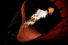 A balloon fires up at a display in Decatur, Alabama. (sphaisell) Tags: instagram ifttt